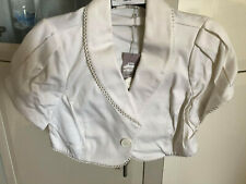 New BANG Couture Short Sleeve Jacket Sz 12 White/Cream RRP $160 FREE POSTAGE