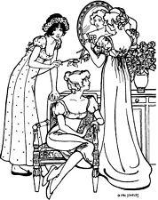 Folkwear Empire Dress #215 Ladies Gown Frock Dresses Sewing Pattern folkwear215