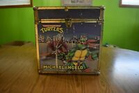 "Vintage TMNT Teenage Mutant Ninja Turtles Toy Chest Box 16"" Cube 80s 90s"