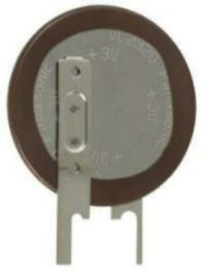 1 x Panasonic 3V 30mA VL2320 Lithium Vanadium Pentoxide Rechargeable PCB Battery