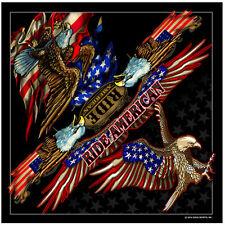American Biker Eagle Adler USA Amerika Flagge Bandana Tuch Kopftuch Halstuch