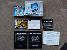 Game Boy Advance Box Platinum Silver Nintendo Limited Edition Grey Manual GBA