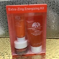 Origins GinZing Energizing Kit Boosting Moisturizer, Cleanser, Eye Cream Kit NIB