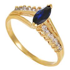 Ringe mit Edelsteinen aus Gelbgold echten (18,1 mm Ø) Saphir Innenvolumen