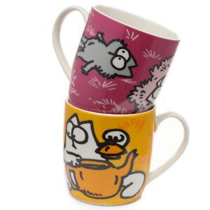 Simon's Cat  mug Set of 2 Porcelain Mugs Coffee Tea cups mugs in gift box