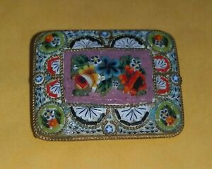 Stunning Vintage Italian Micro Mosaic brooch beautiful quality