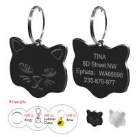 25mm Cat Personalized Pet Cat Tags Disc Engraved Kitten Kitty ID Collar Tag