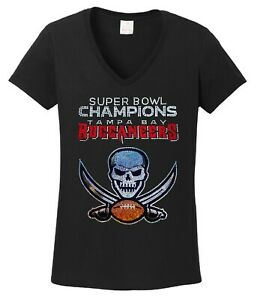 Women's Tampa Bay Buccaneers Super Bowl Championship T shirt lots of sparkle