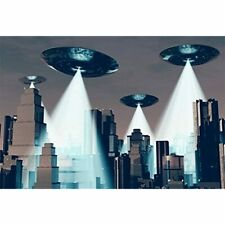 7x5ft Ufo Backdrop Flying Saucer Photography Background Science Fiction Planet