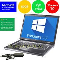 DELL LATITUDE LAPTOP COMPUTER Windows Core Duo 2 GB CDRW DVD WiFi Notebook HD PC