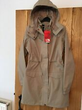 Womens North Face Raincoat Coat Jacket Miage Parka Dune Beige Waterproof Small S