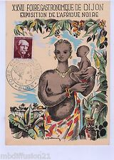1956-FDC CP - FOIRE DE DIJON-EXPO.AFRIQUE NOIRE - STAMP-TIMBRE//Yt. N°820
