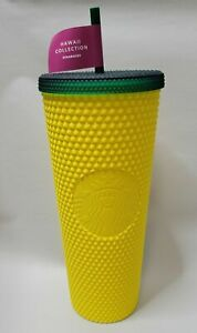 Starbucks 2020 Hawaii Collection Exclusive Pineapple Studded Tumbler 24 oz