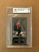 TIGER WOODS ROOKIE CARD 1997 GRAND SLAM VENTURES  MASTERS COLLECTION BCCG 10MINT