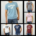 New Hollister by Abercrombie Men Crew Neck Graphic T-shirt Graphic Muscle Fit