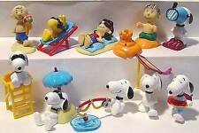 ü - Uovo Bambini SET COMPLETO Peanuts Snoopy 1 in spiaggia ORIGINALE FERRERO