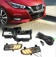 2020+ for Nissan Versa Sunny LED Front fog lights Driving Lights Harness switch