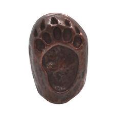 """Bear Track Left Foot Bronze Concho Snap Cap 1-1/4"""" 1265-101"""