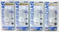 Lot of 4 G24 Base PL LED Bulb (Lamp) 9W Replacement for 13W CFL Meridian 13183