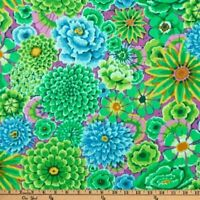 Free Spirit Kaffe Fassett Enchanted Floral PWGP172-Green Cotton Fabric BTY