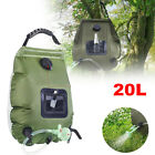 20L Portable Shower Solar Heating Pipe Bag Water Heater Outdoor Camping Bathing