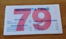 1979 MINNESOTA TWINS SCHEDULE
