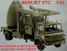 BERLIET VTC  Camion Militaire Transporteur de charge nucléaire 1/43  Neuf boite