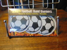 Three Pack Football Shaped Hand Warmers Reusable New Nice Gift