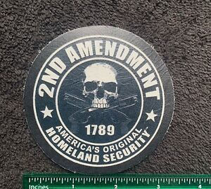 100% ALL LEATHER 2ND AMENDMENT AMERICA'S ORIGINAL HOMELAND SECURITY Sew On Patch