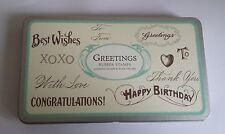 Vintage saludos Sellos 10 Set Tin Cavallini & Co gracias Craft Card Making