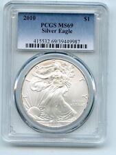 2010 $1 American Silver Eagle 1oz Dollar PCGS MS69