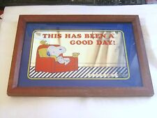 "Miroir Snoopy de 1965 ""United Feature Syndicate, Inc."" 34 cm X 23,5 cm"