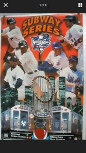 Subway Series 2000 New York Yankees New York Mets Vintage Poster New Old Stock