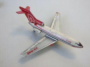 ANSETT -ANA TIN  BOENG 727 JET TOY PLANE FRICTION 1950s  T.T.JAPAN 50's RARE