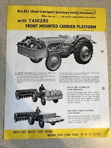 Ferguson ( Massey) TE20 Tractor Front Mounted Carrier Transport Box Leaflet RARE