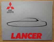 MITSUBISHI COLT LANCER orig 1977 UK Mkt Sales Brochure - 1200 1400 1600