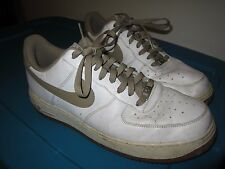 2009 Nike Air Force One 09 White/Olive Blaze Low Basketball Shoes! Size 13