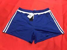 Unisex Adidas Athletic Soccer Shorts Size Adult Large Royal Blue And White NWT