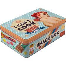 Nostalgic-Art Vorratsdose flach - I Can?t Cook - Snack Box