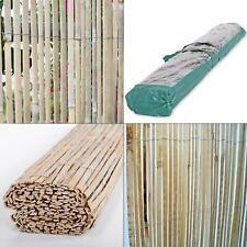 6 ft. h x 16 ft. l natural raw split bamboo slat fencing | backyard rustic brown
