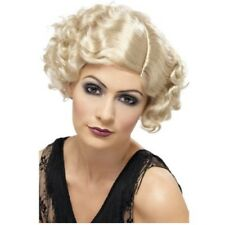 Blonde Short Curly Flapper Wig Gangster Mafia Moll Ladies Fancy Dress
