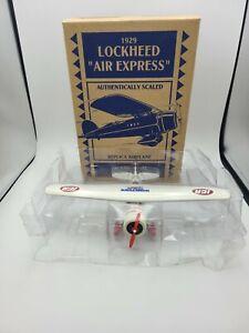 LOCKHEED 1929 AIR EXPRESS IGA ERTL BI-PLANE DIE CAST Coin Bank Airplane