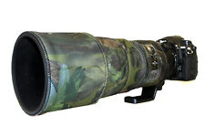 Nikon 300mm f2.8 AFS II neoprene lens protection camouflage cover Woodland Green