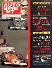AUTOSPRINT ANNO 1972 NUMERO 31 CON INSERTO MANIFESTO NANNI GALLI ARTURO MERZARIO