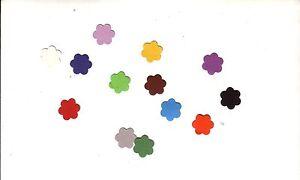 50 Streuteille, kleine Blumen Motiv 1 bunt gemischt, neu