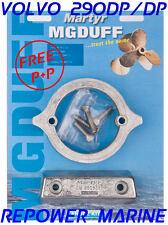 Anode Kit for Volvo Penta 290 DP / DP, Aluminium, High Quality MG Duff