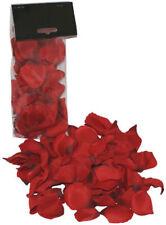 100 Petales de roses en tissus rouge