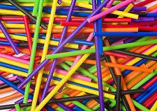 x200 89mm x 4mm Assortiment Couleur Plastique Sucette Sucette Gâteau Pop Bâtons