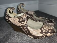 Clarks Cushion Soft Shoes Size Uk 6 39 D Peep Toe Wedges