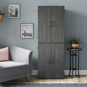 Mainstays 4-Door 5' Storage Cabinet, Black Oak